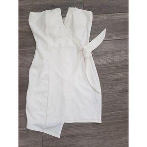 White Trixxi Strapless Bodycon with bow in Small